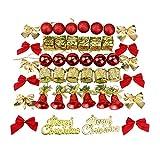 Hemore Ornamenti per l albero di Natale Decorazione con pendente Kit di  decorazione con palle ae18db7d3585