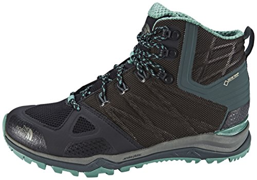The North Face W Ultra Fastpack Ii Mid Gtx, Chaussures de Marche Femme Nero (Tnfblck/Deepsea)