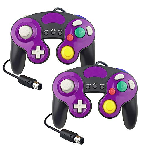 YCCTEAM Gamecube Controller für Nintendo Switch, Game Cube NGC Classic Controller kompatibel mit Wii U, für Ultimate Super Smash Bros (2 Packungen) (Smash Super Für Wii)