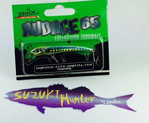 Künstliche Spinning MOLIX mutige 656,5cm 4g Trout Killer Grün