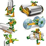 Babytintin Educational 6 in 1 Green Solar Power Energy Robot Toy Recycle Kit