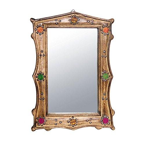 Discount Etnico - Specchio Legno Mango Zari Misura 33 x 50 cm