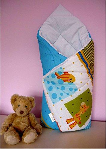 Couverture et enveloppe pour bébé - Plus de 30 motifs colorés - Idéal pour les bébés de 0 à 6 mois