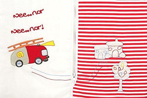 Slumbersac Saco de dormir de bebé Invierno manga larga aprox. 3.5 Tog, Camión Bomberos, varias tallas: nacimiento hasta 10 años