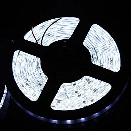 Hukz 60 cm 5050 36LED Flexible Streifen Licht Lampe Für PC Computer Fall DC 12 V Wasserdicht,Paket beinhaltet: 1x LED-Streifenlicht, Lange Lebensdauer 50.000+ Stunden (Weiß) -