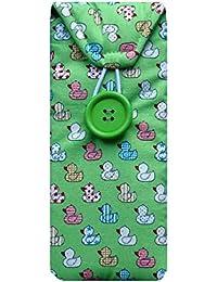 Verde Quacky funda para gafas diseño de pato