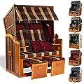 Möbelcreative Strandkorb Ostsee XXL Volllieger Poly-Rattan Garten-Möbel Holz 120cm Schutzhülle von Möbelcreative auf Gartenmöbel von Du und Dein Garten
