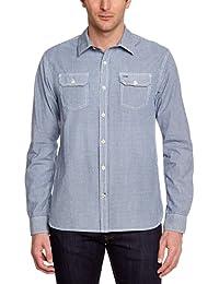 Hilfiger Denim Herren Freizeithemd Stanton Indigo Shirt L/s