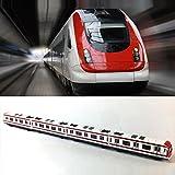 Modelo del tren, 4pcs Juguete del coche fijó el modelo del tren del subterráneo del ferrocarril de la ciudad de la aleación, metro de la aleación de la escala 1/64 / modelo del coche ToysPlay, blanco rojo