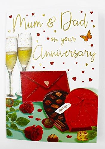 Wedding Anniversary Karte Love Eltern Qualität Groß Vers (50 Wedding Anniversary Dekorationen)