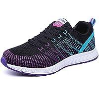 1f49a9c3 Mujers Zapatillas de Deportivo Sneakers Running Cordones Zapatos para  Correr Malla Calzado Atletismo Fitness Casual Verano