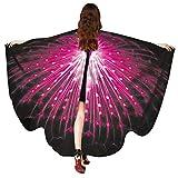 Pfau Flügel Schal, VEMOW Frauen 168 * 135CM Verschnörkelt Weiches Gewebe Fee Damen Nymph Pixie Tanzperformance Halloween Cosplay Weihnachten Cosplay Kostüm Zusatz