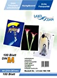 LabelOcean Premium Fotopapier selbstklebend 100 Blatt A4 Highglossy hochglänzend wasserfest