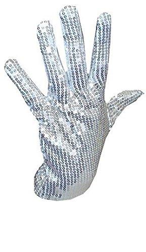Micheal Jackson, für Herren Damen, Silber, mit Pailletten, mit Pailletten, 70er 80er Kostüm, Größe