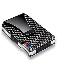 Billeteras Fibra Carbono Slim Tarjeta de Crédito Clip Cardholder Money Clip Hombre Monedero
