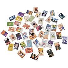 Kesheng 50pcs Pegatinas Sello de Correos para Scrapbooking Calendario Diario Álbum