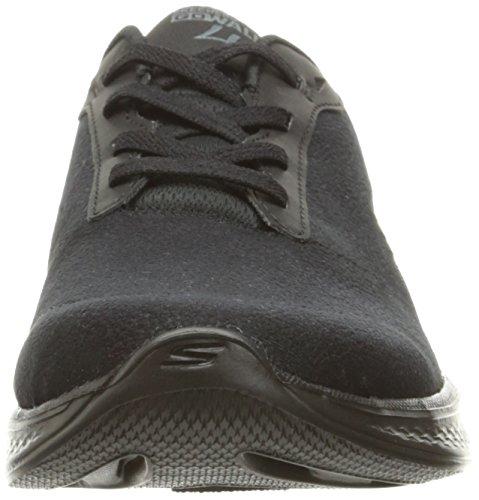 Skechers Go Walk 4 Premier, Baskets Basses Femme Noir (Bbk)
