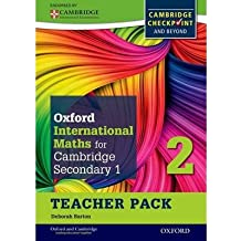 [Oxford International Maths for Cambridge Secondary 1 Teacher Pack 2: For Cambridge Checkpoint and Beyond] [by: Deborah Barton]