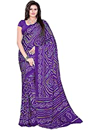 Aaradhya Fashion Women's Crepe Saree With Blouse Piece (Afmoss-0107_Purple)