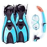 Two Bare Feet Mask Snorkel Fins/Flippers PVC Diving Set (Adults) - Scuba Dive