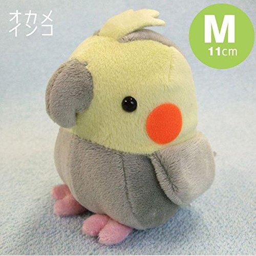 soft-and-downy-medium-bird-stuffed-toy-doll-cockatiel-grey-m-size-11-cm