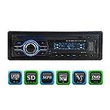 KKmoon Car Audio Stereo 1 DIN Universal Car CD DVD MP3 Player Stereo