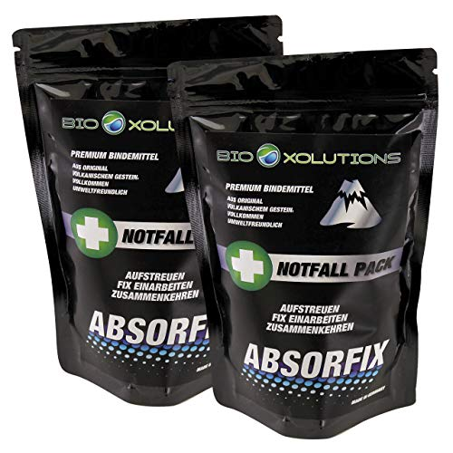 Natürliche Granulat (Absorfix Notfallpack fürs Auto ✅ Geruchsentferner und natürliches Bindemittel für alle Flüssigkeiten ✅ Absorbiert Erbrochenes, Urin, Öl, Benzin, Speisereste, Getränke, UVM. (2 x 100g))