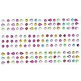 Adesivi strass,TOYMYTOY Foglio di strass colorati per decorazione di unghie/viso/cellulare
