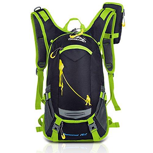 hrradrücksack Trekking Ski Rucksäcke Backpack mit Regenabdeckung 18L (Grün) (Ski-rucksack)