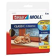 Tesa Spar-Set 4x: 05390-00101-00 CLASSIC P-Profil, 6m:9mm, braun BRAUN Länge/m: 6,00 Breite/mm: 9,0