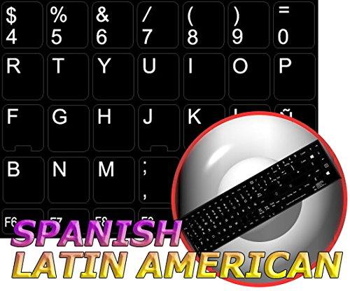 Ersatz Spanisch lateinamerikanischen Tastatur Aufkleber schwarz Hintergrund