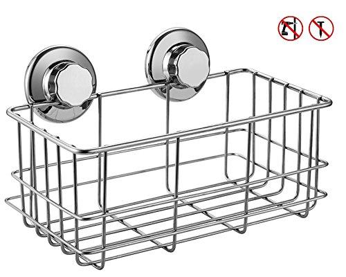 ARCCI Edelstahl Duschkorb Duschablage rostfrei ohne bohren Duschregal Saugnapf Universalkorb stark