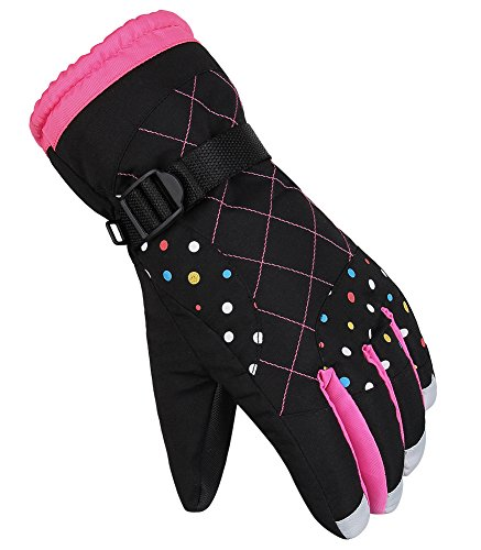 DEKINMAX Ski Gloves Women Lady Winter Outdoor Sports Warm Glove Snow Proof Windproof Mittens for Skiing Cycling Climbing Driving Riding Hiking
