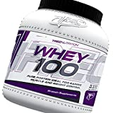 100% Pure Protein 1500g (strawberry) - Complex Whey Protein Powder - Really High Quality - Gaining Muscle and Weight Control - The best protein for building muscles