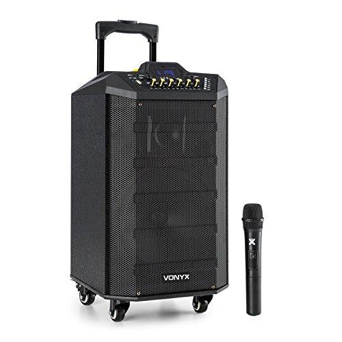 Vonyx VPS10 Sound-System 250W USB-/SD-Anschluss Bluetooth 12V/4,5Ah Akku -