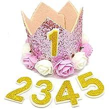 Sombrero de Corona de Flor de Bebé y Mascota Pequeña Sombrero Creativo del Tema de Cumpleaños