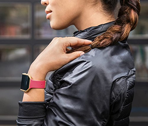 Fitbit Blaze Smart Activity Tracker and Fitness Watch with Wrist Based Heart Rate Monitor – Slim Pink Gold/Small