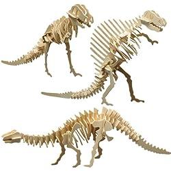 Pebaro 856 - Set de manualidades de madera: Motivo: dinosaurios
