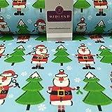 Blau Weihnachtsmann & Weihnachten Festliche Baum Bedruckt