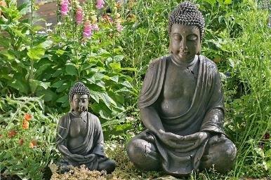 Deko-Buddha sitzend, ca. 40cm hoch in Braun - 2