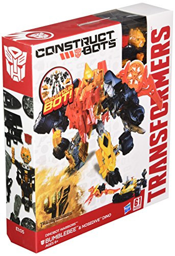 Extinction Construct-Bots Dinobot Warriors Bumblebee and Nosedive Dino Buildable Action Figure ()