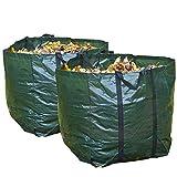 Set di 2Strong 150litri giardino sacco di erba per rifiuti del sacchetto impermeabile riutilizzabile grande