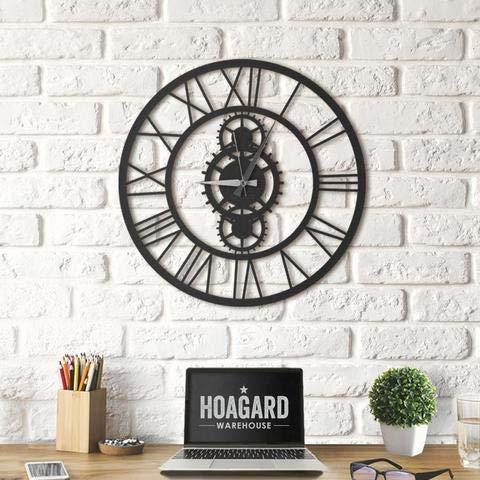 Hoagard Clock Gibson XL - Cuadro Decorativo para Pared (Metal, 70 x 70 cm), diseño geométrico