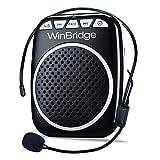 WinBridge WB001 Ultraleicht Stimmverstärker Lautsprecherbox Verstärker Praktisches und Handliches Megaphonen mit Mikrofon-Headset Für Vorträge, Lehrer, eines Reiseführers und Trainer