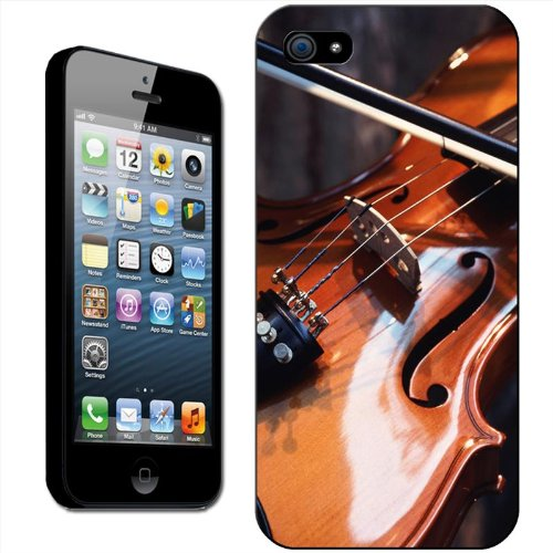 Violons Coque arrière rigide détachable pour Apple iPhone modèles, plastique, Violin & Sheet Music, iPhone 4/4s Wooden Violin & Bow Close Up
