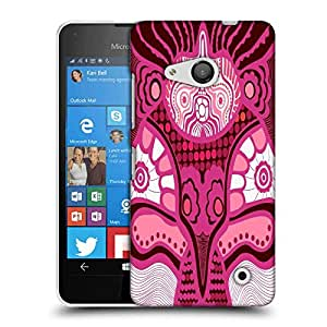 Snoogg Abstract Pink Design Designer Protective Phone Back Case Cover For Microsoft Lumia 550