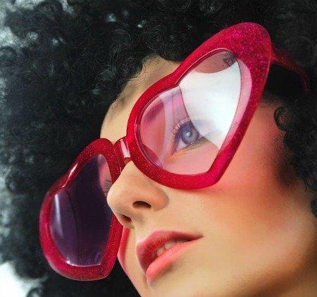 Unbekannt PartyDeco Giganti A Herz mit Brillanten, Farbe Rot, OKR1-007