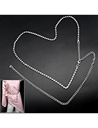 39ce3af66980 Argent 1reihen Ceinture Strass Diamant Femme Chaîne Pendentif sur les  hanches Taille Ceinture