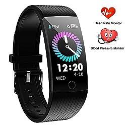 WENVVIS Fitness Tracker, Fitness Armband Wasserdicht IP67 Smartwatch mit Pulsmesser 1,14 Zoll Farbbildschirm Aktivitätstracker Schrittzähler Fitness Uhr Smart Watch Schlafüberwachung Sportuhr ...
