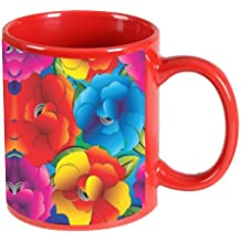 Printland floral Red Coffee Mug 350 - ml